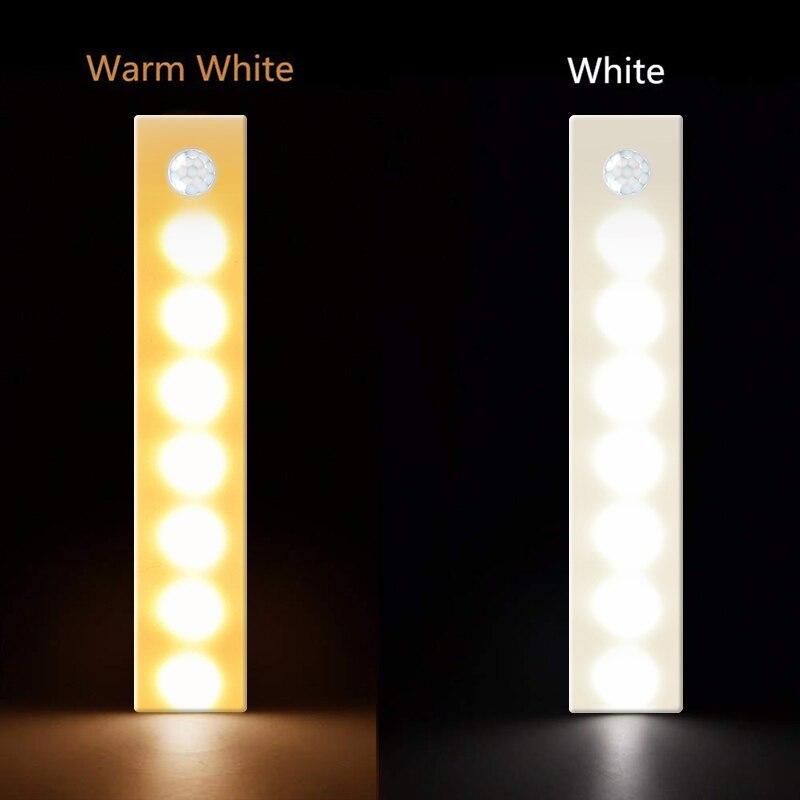Supply Motion Sensor Light Usb Charging Night Light Motion Sensor Closet Light Bar Stick-on Anywhere Cabinet Light Bar For Fast Shipping
