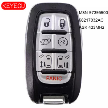 KEYECU ASK 433MHz Smart Remote Start Key Proximity 7 Button Fob for Chyrsler Pacifica 2017-2020 ,FCCID:  M3N-97395900