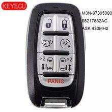 Keyecu Vragen 433 Mhz Smart Remote Start Sleutel Proximity 7 Knop Fob Voor Chyrsler Pacifica 2017 2020, fccid: M3N 97395900