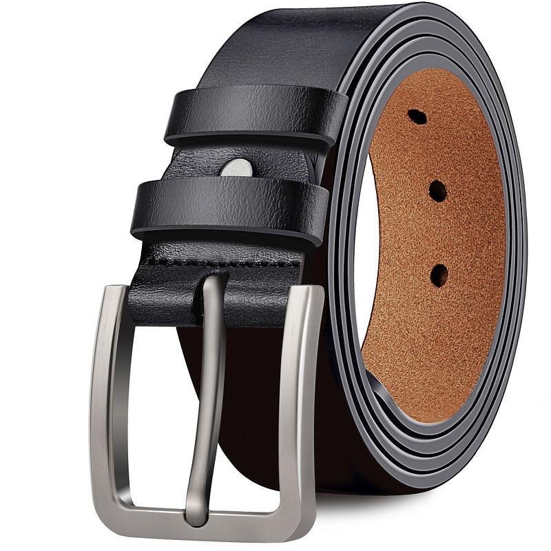 Мужской винтажный кожаный ремень с металлической пряжкой, дизайнерские ремни из натуральной воловьей кожи, ремни для джинсов, большие размеры 170 см|Мужские ремни| | АлиЭкспресс