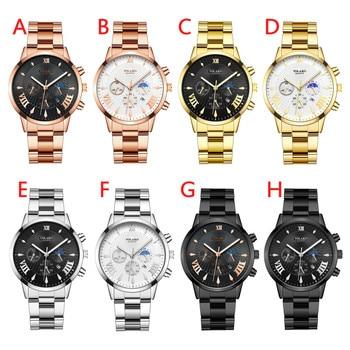 Multicolor High Quality Yolako Men's Casual Watch Fashion Quartz Stainless Steel Relogio Strap Watch Analog Watch Часы Мужские
