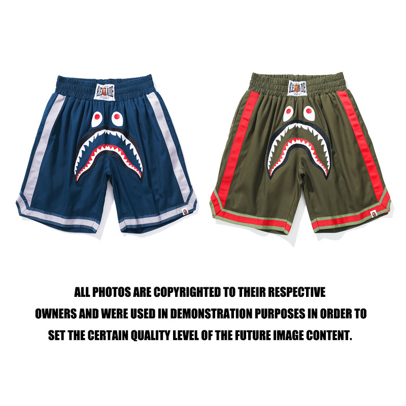 Popular Brand Readymade X Ape Head Joint-Military-Style Workwear Embroidered Shark Shorts Shorts
