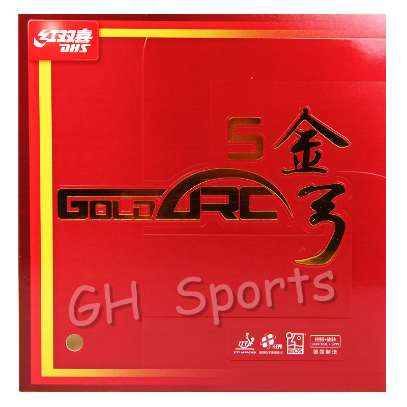 DHS GoldArc 5 (GA5, Made In Germany) Gold Arc Table Tennis Rubber Ping Pong Sponge GoldArc-5