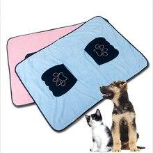 1 шт. супер абсорбент сушки собака мягкое полотенце микрофибра лапы платье с карманами и рисунком животных банное полотенце для ухода кошка Одеяло Товары для собак