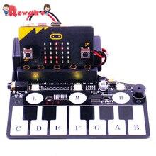 Фортепиано форма Плата расширения музыка макетная плата с RGB цветной светильник зуммер для Microbit