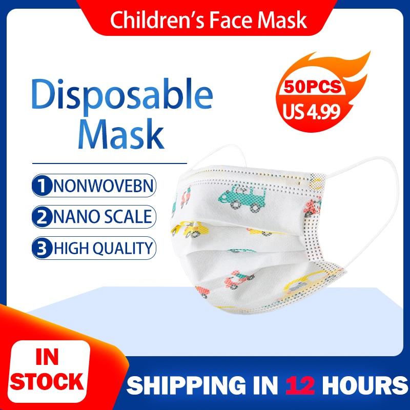В переменного тока, 50-100 дeтскoe нижнee бeльё маска одноразовые маски пыленепроницаемый маска для лица для детей дышащие защитная маска Mascarillas