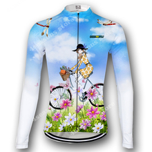2020 Cycling Jersey mtb Bike Jersey Shirt Women Long Sleeve Cycling Clothing Bicycle Clothes Ropa Maillot Ciclismo Anti-UV Pink orangutan cycling jersey tops summer cycling clothing ropa ciclismo short sleeve mtb bike jersey shirt maillot ciclismo 5114