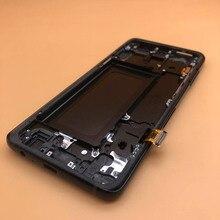 5.6 orijinal süper AMOLED LCD ekran Samsung Galaxy A8 2018 A530 A530F A530DS A530N SM A530N LCD çerçeve dokunmatik ekran