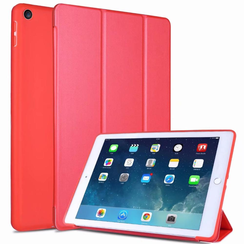 2 White Slim light Tablet Case For Ipad 10 2 Soft TPU Tri fold Smart Cover For iPad