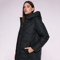 AORRYVLA 2019 Winter New Fashion Women's Down Jacket Hood Long Parka Coat Thick Warm Biological Down Jacket Female Jacket Winter
