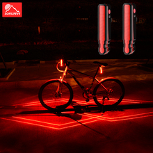 цена на Project Laser Bicycle Light Taillight LED Safety Warning Bicycle Tail Light USB Rechargeable Waterproof MTB Bike Rear Light Lamp