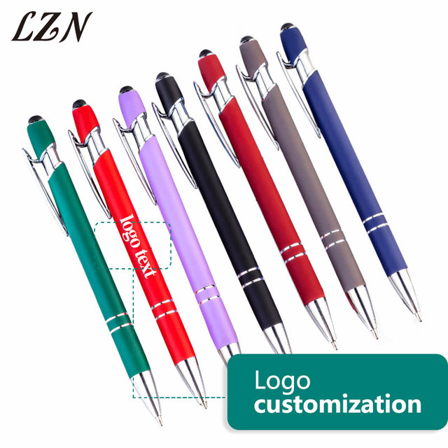 LZN 10pcs a lot 2019 New Style 2 In 1 Universa Stylus Touch Writing Pen for iPad iPhone Tablet Free Customlized Logo/Text/Date