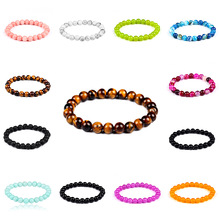 Hot sell obsidian Tiger eye stone melting rock beaded powder crystal jewelry natural men and women bracelet