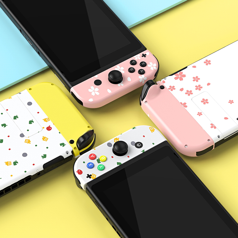 NEW Cherry Pink DIY Modified Hard Shell For Nintend Switch Console Handle Color NS Replacement Shell Joycon Paint Shell