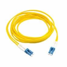 Dupla lc ao cabo de remendo da fibra do lc cabo de ligação em ponte sm monomodo frente e verso optica para uma rede 3 m 5 m 10 m 20 m 10ft 16ft 33ft 66ft