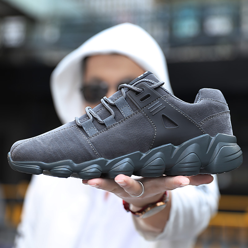 2019 Mens Casual Shoes Outdoor Fashion Sneakers Man Breathable Pu Leather Shoes Man Autumn Winter Sneakers Plus Size 39-46