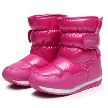 SKHEK 2019 Winter Platform girls Boots Children Rubber anti-slip Snow Shoes for girl big Kids Waterproof Warm