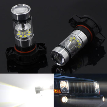 2Pcs 5202 H16(EU) 6000K White 20SMD Bulbs LED Fog Light or DRL For BMW E90/E92 3 Series, F10/F07 5 Series, E83 E70 X5 E71 image