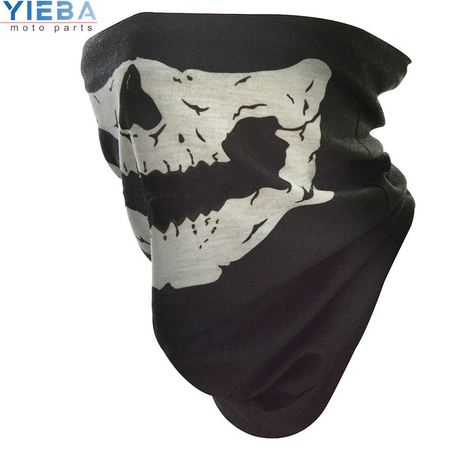 Full Face Motorcycle Face Shield winter Face Mask Ghost Mask 3D Skull Sport Mask Neck Warm Windproof Outdoor Motorbike Parts