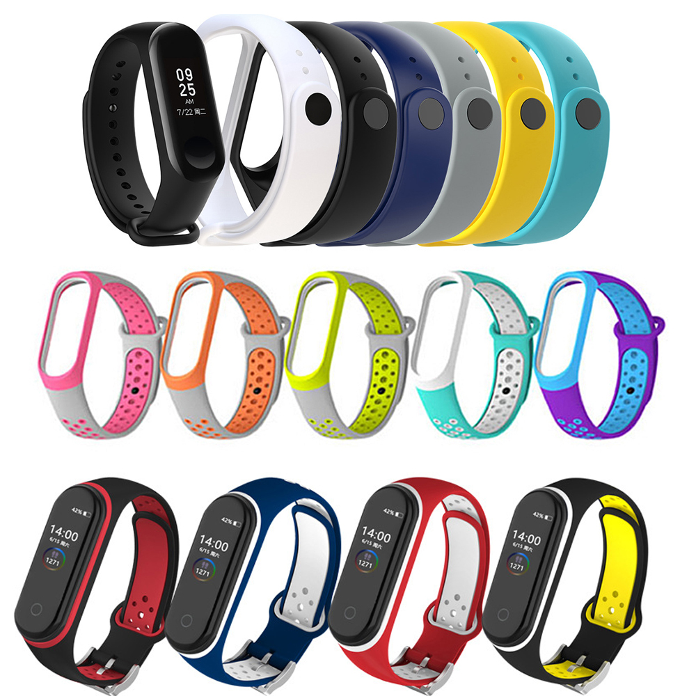 Sport Strap For Xiaomi Mi Band 4 3 Replaceable Bracelet Mi Band4 Band3 Sports Wristband Breathable Bracelet For Xiomi Miband 3 4