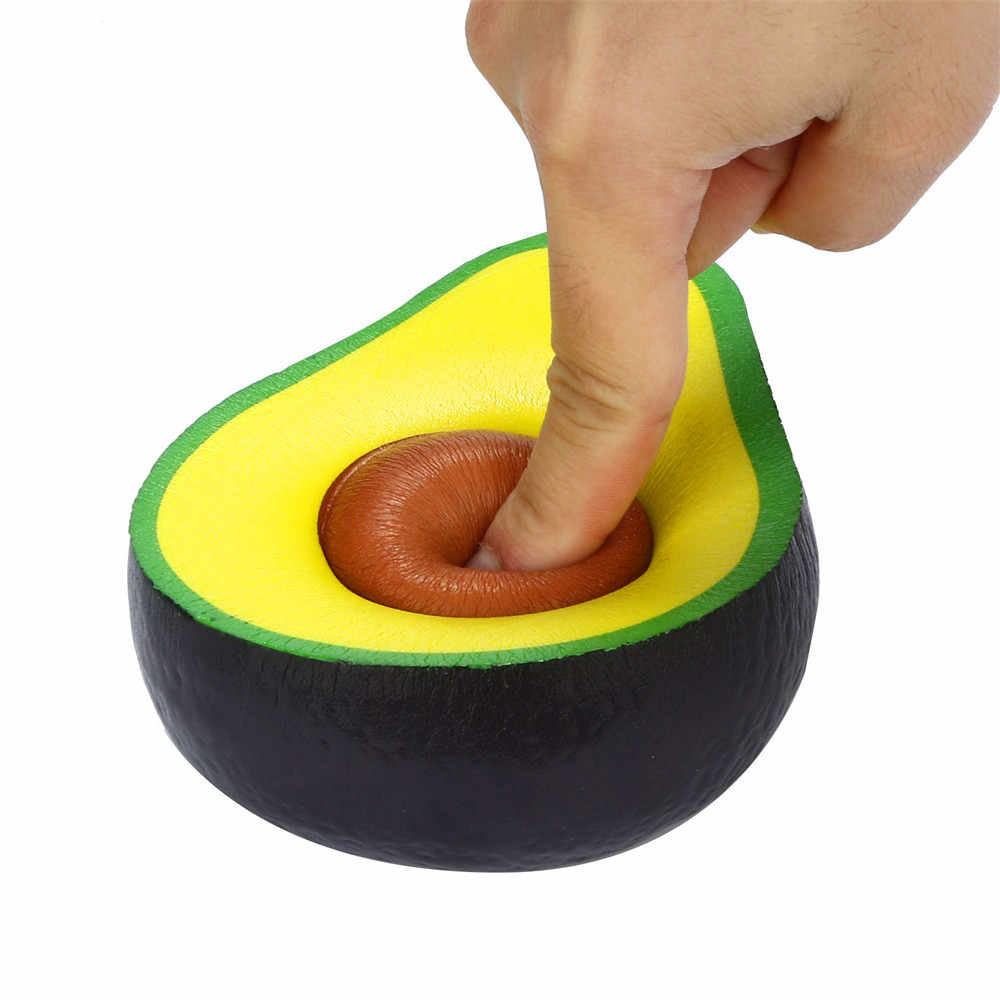 Squishies סימולציה אבוקדו איטי עולה קרם ריחני לסחוט הפגת מתחים צעצועי ילדים יצירתיים כיף צעצועי ילד בנות מתנה