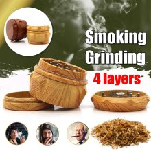 40x33mm 4 Layers Imitation Wood Herb Grinder With Nail Teeth Spice Grinder Handle Tobacco Grinder Pipe Accessories(China)