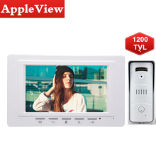 Phone-Doorbell Camera Visual-Intercom-System Video Door Waterproof 1200TVL 7inch