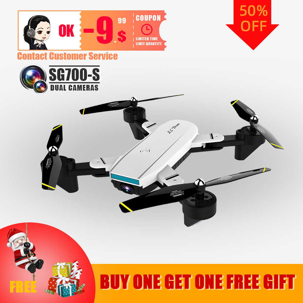 Дрон 4K SG700 S Mini Drone Dron Helicopter Afstandsbediening 4CH Wifi Optische Stroom Dual Camera Quadcopter Drones