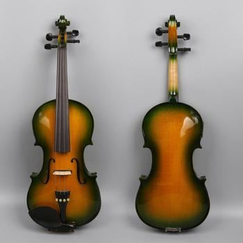 Yinfente Electric-Acoustic Violin 4/4 Maple+Spruce Hand made Free Case+bow+Cable#EV1