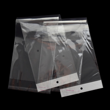 100pcs/lot Clear Opp Plastic Bag Wig Package Bags Grocery Packing Self Adhesive Transparent Long Poly Packaging