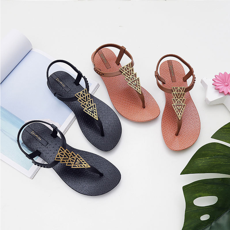 Women's Sandals Slippers 2020 New Summer Boho Ethnic Style Flat Shoes Women Sandals Women's Vacation Beach Shoes Sandales Femme
