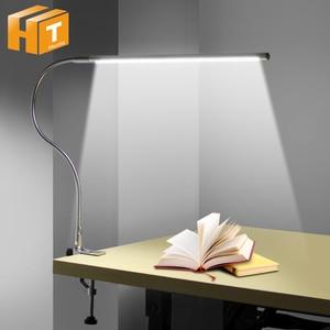 Image 1 - Lampe détude de travail à Long bras LED 48 LED s lampes de bureau à montage par pince lampe de lecture à protection oculaire Flexible USB.