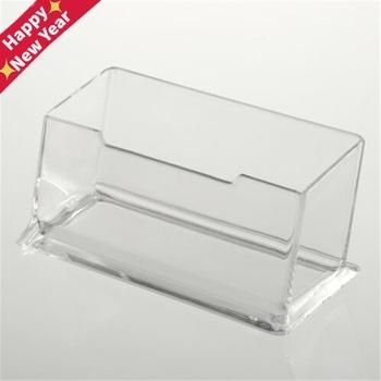 Wyczyść biurko półka Box stojak wystawowy tworzywo akrylowe przezroczysty pulpit wizytownik na karty biznesowe tanie i dobre opinie CN (pochodzenie) other Poziome Z tworzywa sztucznego Kariery Miękki plastik