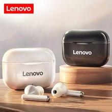 Oryginalny Lenovo LP1 TWS bezprzewodowe słuchawki Bluetooth 5.0 podwójna redukcja szumów Stereo Bass sterowanie dotykowe długi tryb gotowości 300mAH