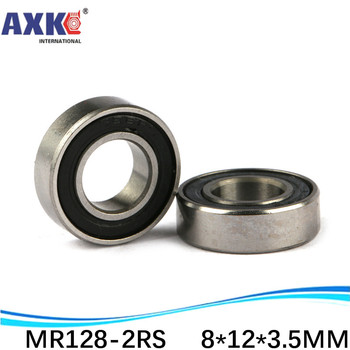 AXK sale price miniature deep groove ball bearing MR128-2RS MR128 RS L-1280 678RS 8*12*3.5 mm image