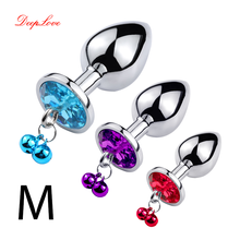 Metal Anal Plug Mini Sex Toys Heart Shaped Crystal Jewelry Pendant Butt Plug Small Unisex Adult Product(China)