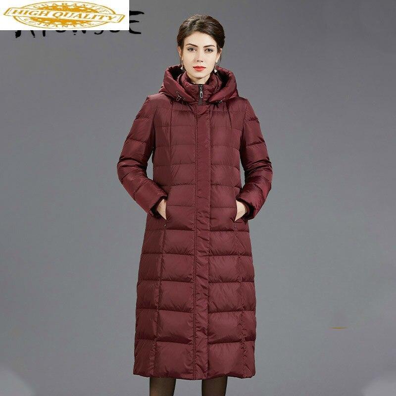 Winter Coat Women Korean 90% White Duck Down Jacket Women Thick Long Puffer Jacket 2019 Warm Parka Abrigos B-8801 YY1638