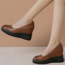 Модные кроссовки из коровьей кожи вечерние туфли лодочки на