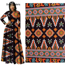 100% Cotton Ankara African Wax Black Flower Print Fabric High Quality Veritable Real