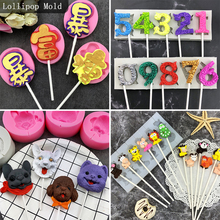 9Kinds Anima Dog Transportation Cartoon Silicone Lollipop Mold DIY Fondant Tools Candy Chocolate Cake Decorating Mould