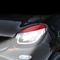 Car Headlamp Decoration Sticker EXterior Styling Accessories Protection Cover For Mercedes Smart 453 fortwo forfour Headlight Modification Decorative Shell