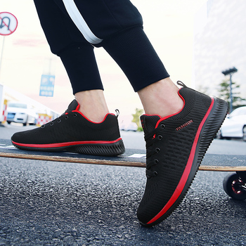 Comfortable Casual Shoes Men Breathable Walking Shoes Lightweight Sneakers Black Footwear Men Lace Up Running Shoes Men Big Size 1