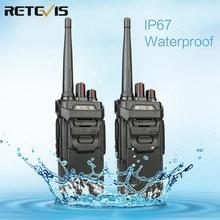 2 قطعة RETEVIS RT48/RT648 IP67 مقاوم للماء اسلكية تخاطب العائمة PMR راديو PMR VOX UHF اتجاهين راديو Comunicador ل Baofeng UV 9R