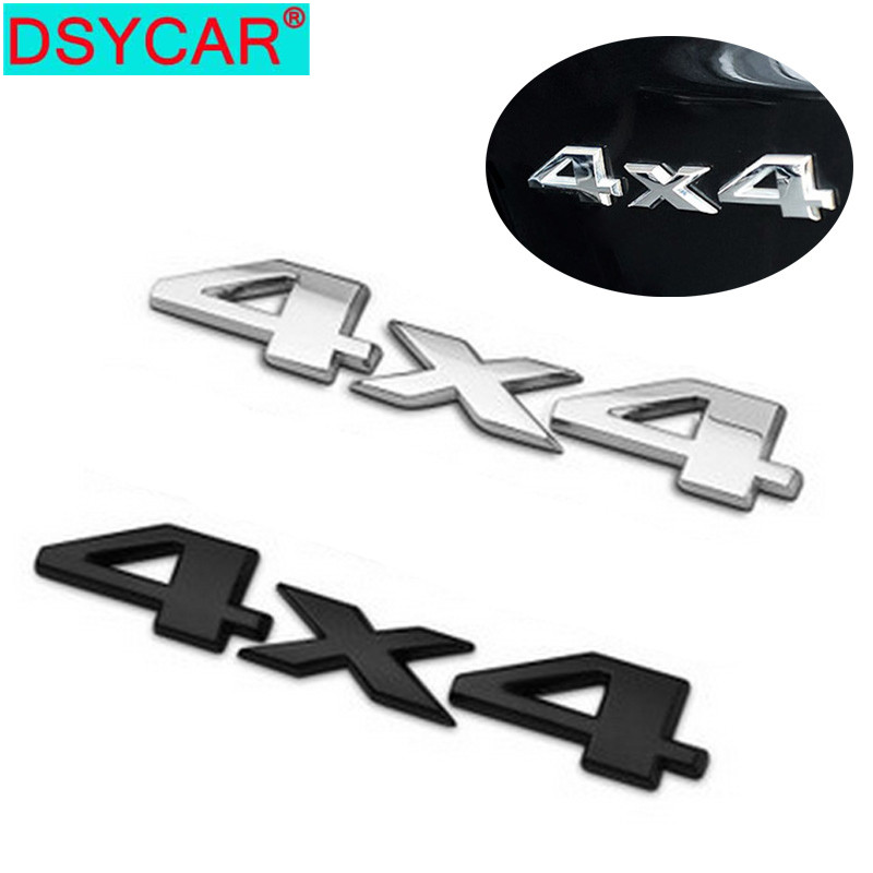 Black 3D 4X4 Auto Car Logo Decal Emblem Sticker Badge for Jeep Dodge Ford Truck