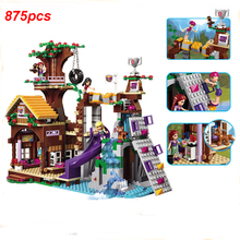 Girl Series Building Block Brick Set Toys Compatible Friend Adventure Camp Tree House Model For Children Kids Figure Gifts
