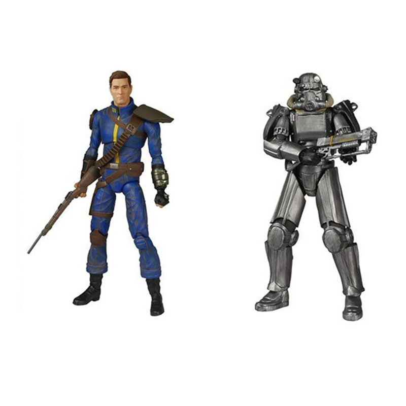 Fallout 4 Power Armor Lone Wanderer Action Figures Model Toys for Birthday Gift Without box image