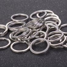 10 шт кольцо для ключей серебристого цвета