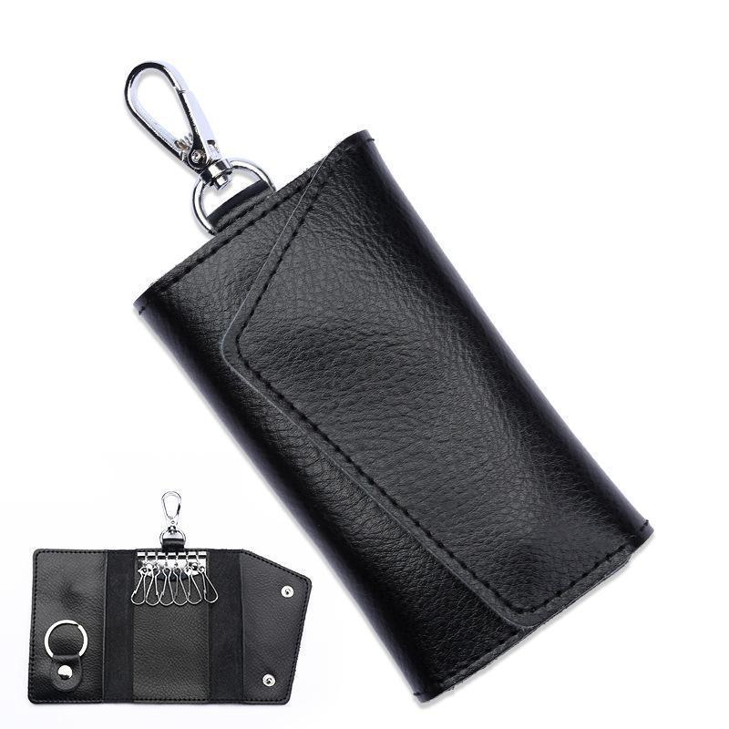Mini Card Bag Genuine Leather Keychain Men Women Key Holder Organizer Pouch Cow Split Car Key Bag Wallet Housekeeper Key Case