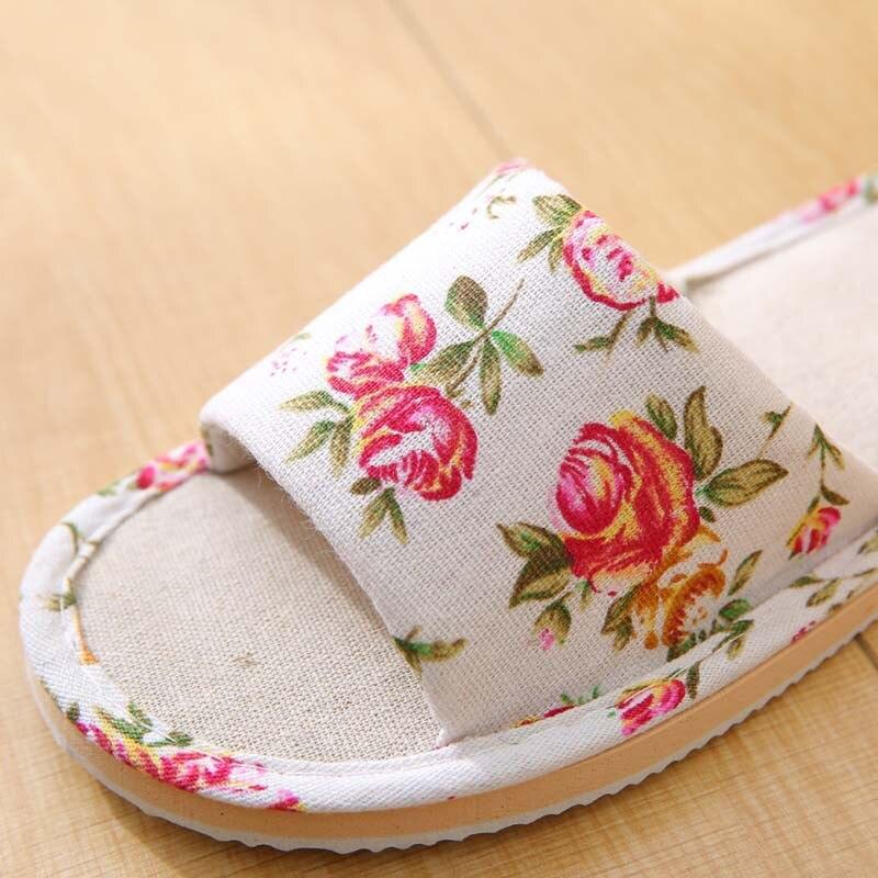 Spring Autumn Women Home Slippers Indoor Floor Soft Couple Linen Slipper Lightweight Unisex Bedroom Shoes Ladies Flax Flip Flops 2