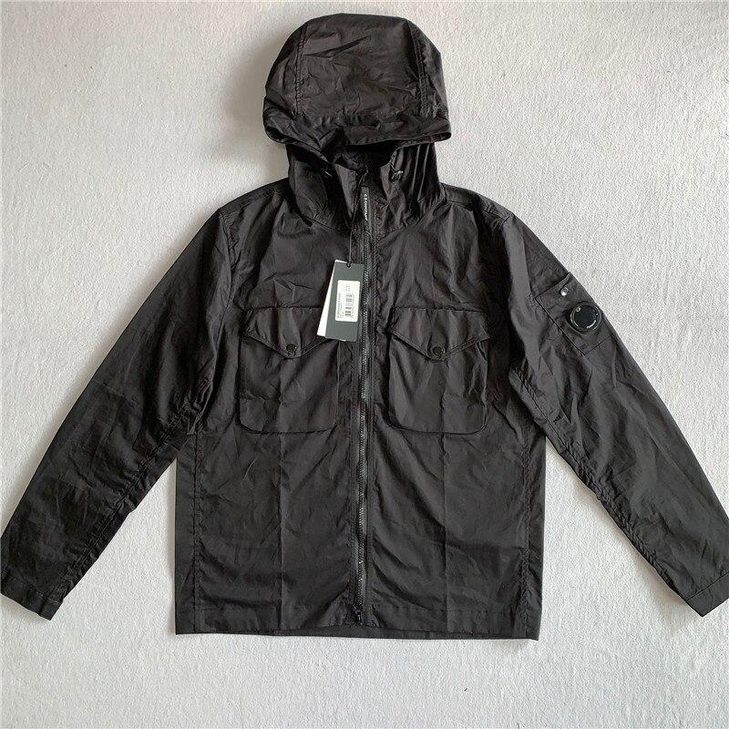 Внешняя торговля, Новый кардиган CP на молнии для молодых мужчин, куртка с капюшоном для инструментов, Корейская Повседневная Мужская модная...